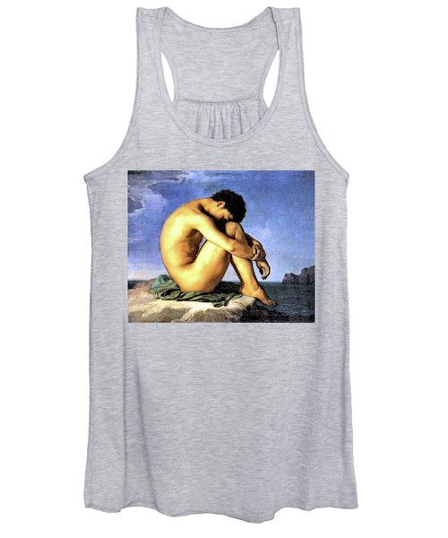 Young Man By The Sea Women's Tank Top