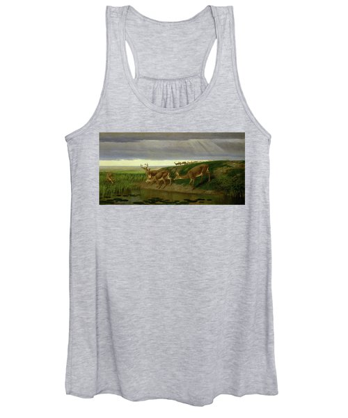 Deer On The Prairie Women's Tank Top