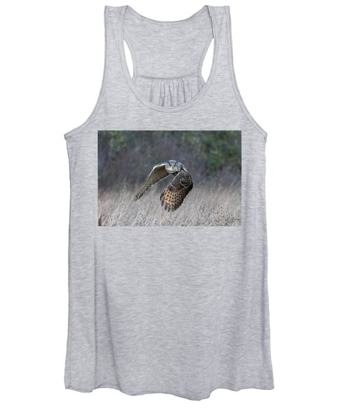 Eurasian Eagle Owl Flying Women's Tank Top