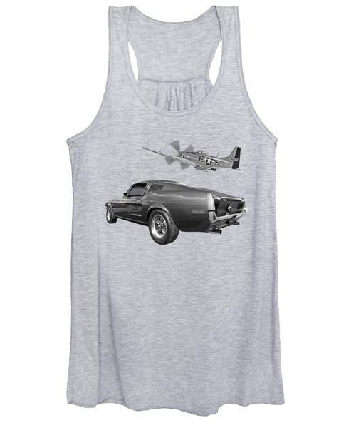 p51 With Bullitt Mustang Women's Tank Top