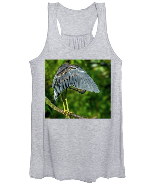Preening Reddish Heron Women's Tank Top