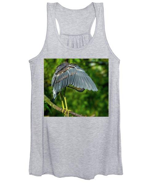 Preening Reddish Heron Women's Tank Top
