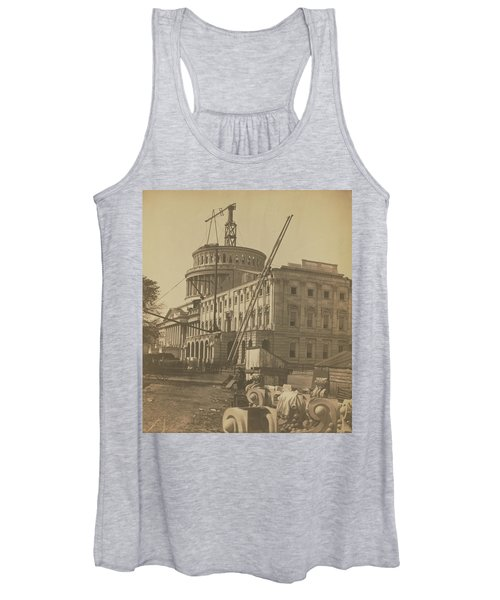 United States Capitol Under Construction Women's Tank Top