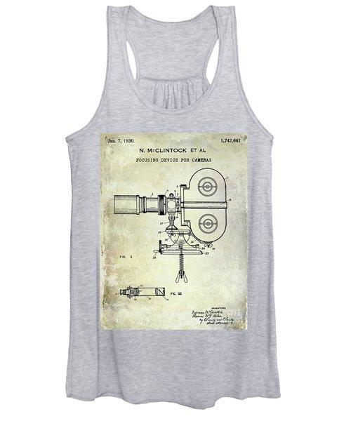 1930 Movie Camera Patent  Women's Tank Top