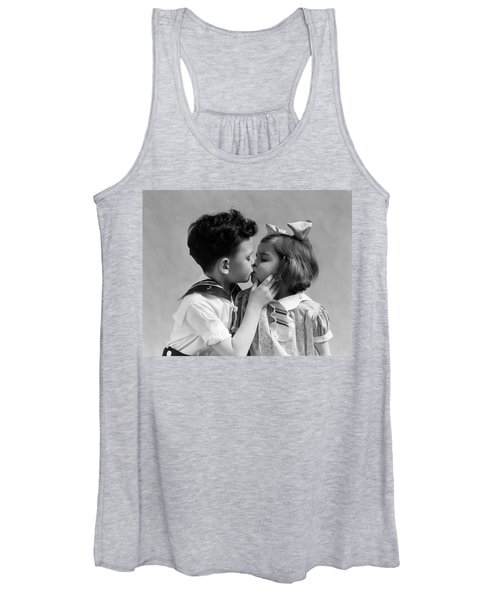1930s Two Children Young Boy And Girl Women's Tank Top