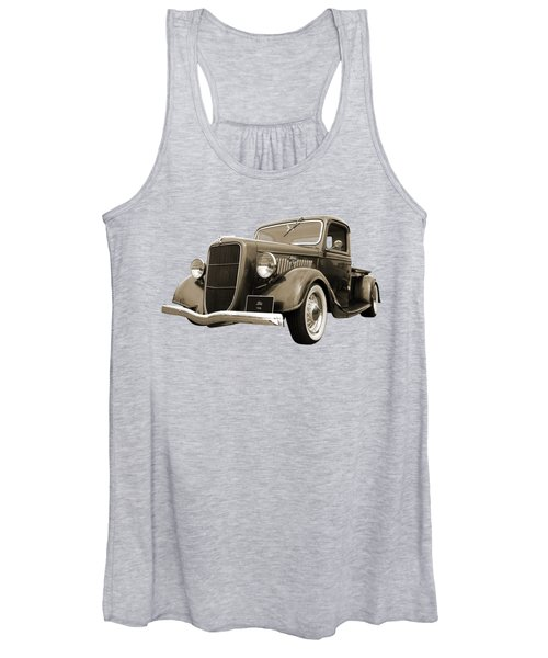 1936 Ford V8 In Sepia Women's Tank Top