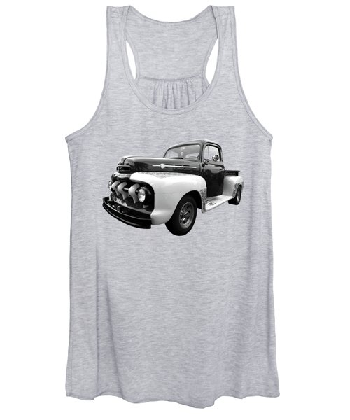1952 Ford F-1 In Black And White Women's Tank Top
