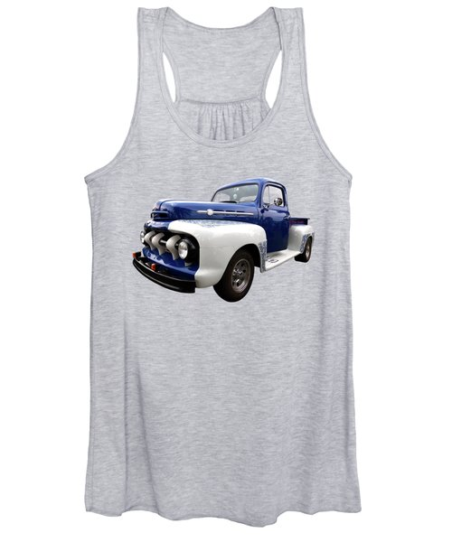 1952 Ford F-1 In Blue And White Women's Tank Top