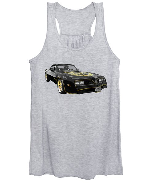 1976 Trans Am Black And Gold Women's Tank Top