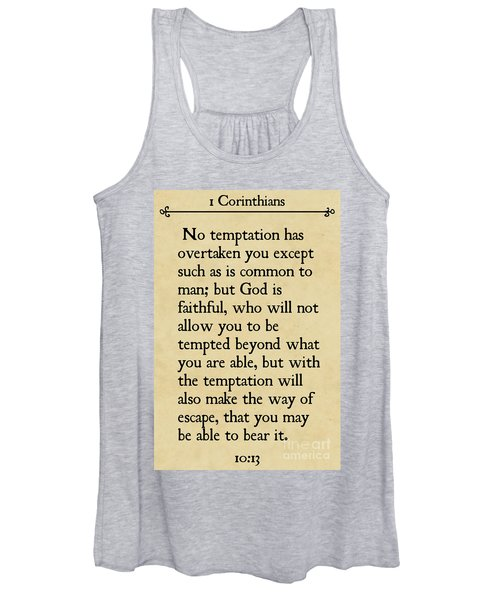 1 Corinthians 10 13- Inspirational Quotes Wall Art Collection Women's Tank Top