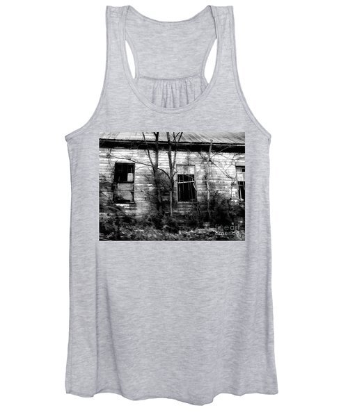 Abandoned In Black And White Women's Tank Top
