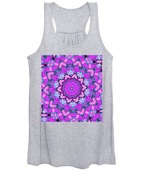 Abstract Spun Flower Women's Tank Top