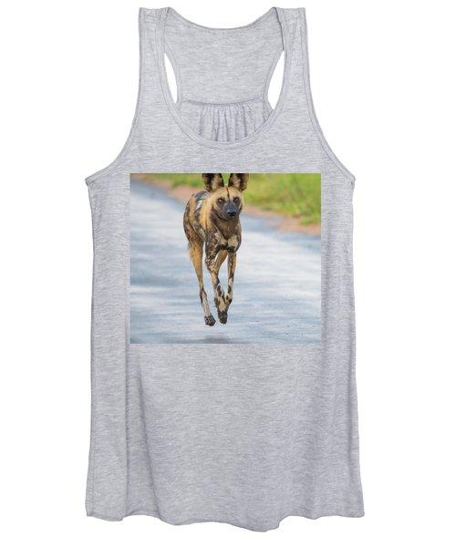 African Wild Dog Bouncing Women's Tank Top