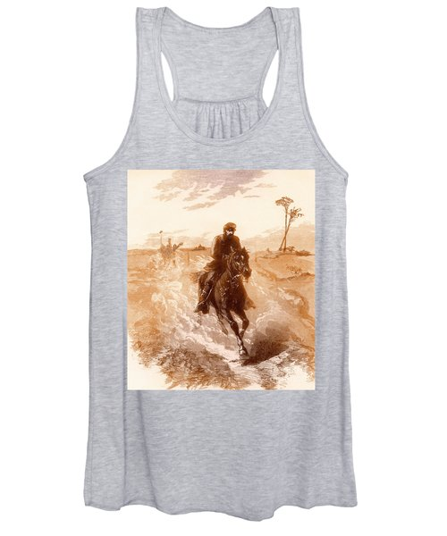 American Civil War Union General Philip Sheridan Rides To The Front Women's Tank Top