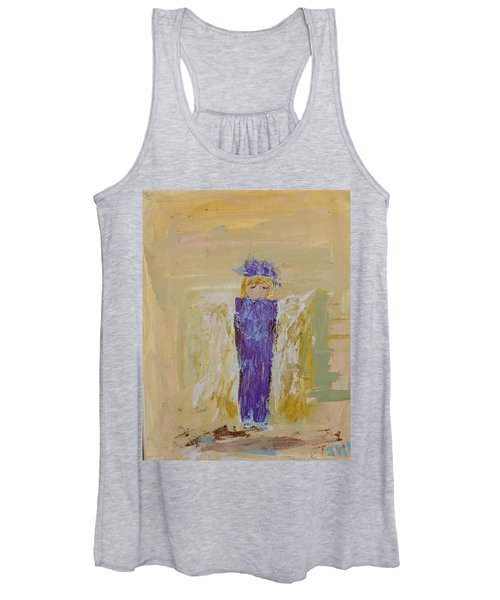 Angel Girl With A Unicorn Women's Tank Top