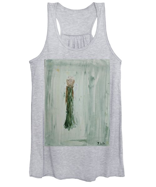 Angel In Green Women's Tank Top