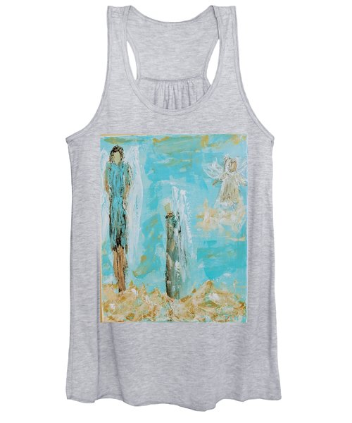 Angels Appear On Golden Clouds Women's Tank Top