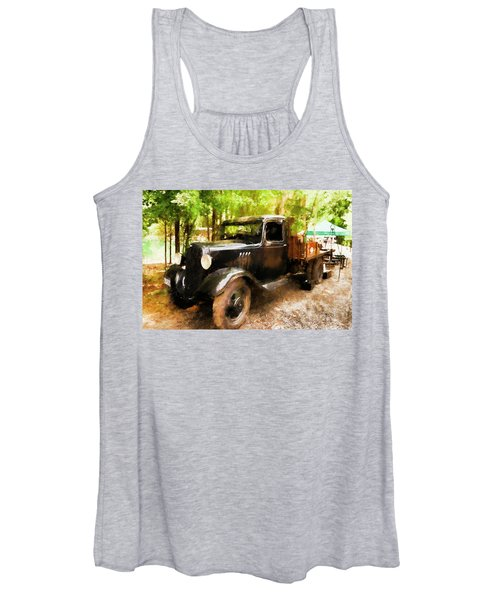 Antique Black Truck Women's Tank Top