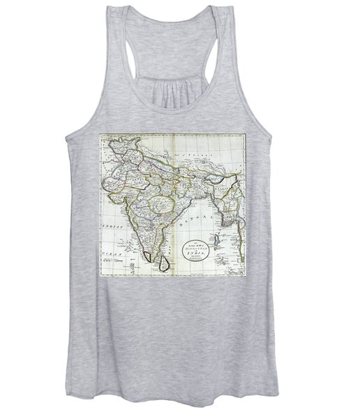 Antique Map Of India   Women's Tank Top