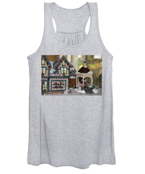 Antiques In Christmas Town Women's Tank Top