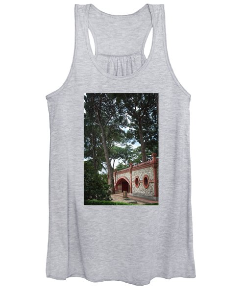 Architecture At The Gardens Of Cecilio Rodriguez In Retiro Park - Madrid, Spain Women's Tank Top