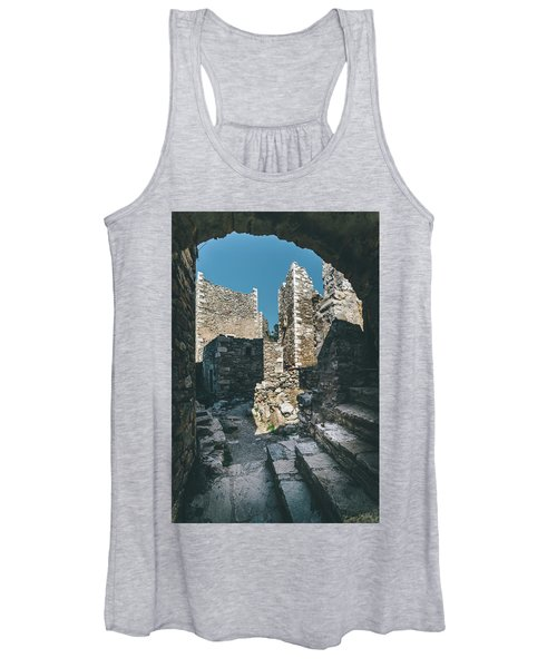 Architecture Of Old Vathia Settlement Women's Tank Top