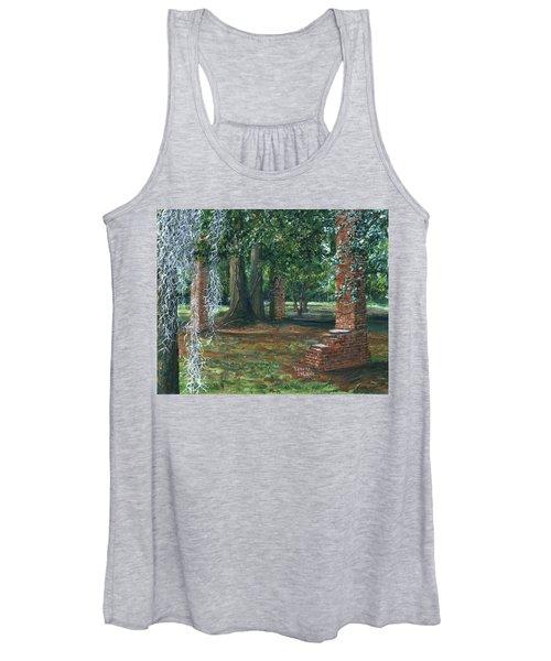 Ardoyne Ruins Near The Mansion, Houma, Louisiana Women's Tank Top
