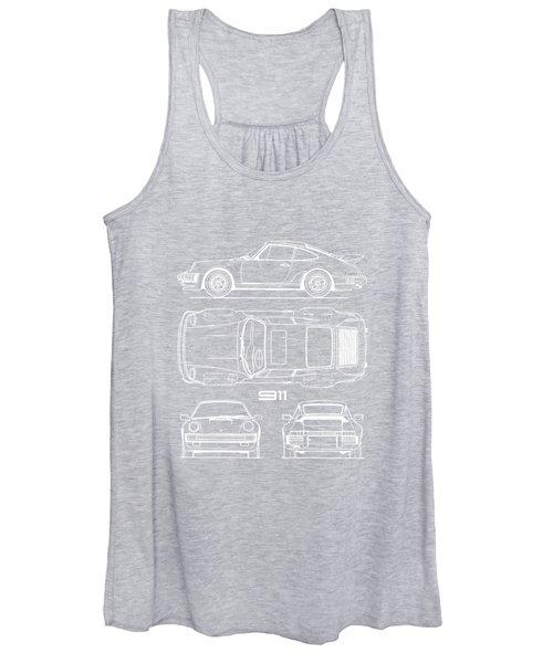 The 911 Turbo Blueprint Women's Tank Top