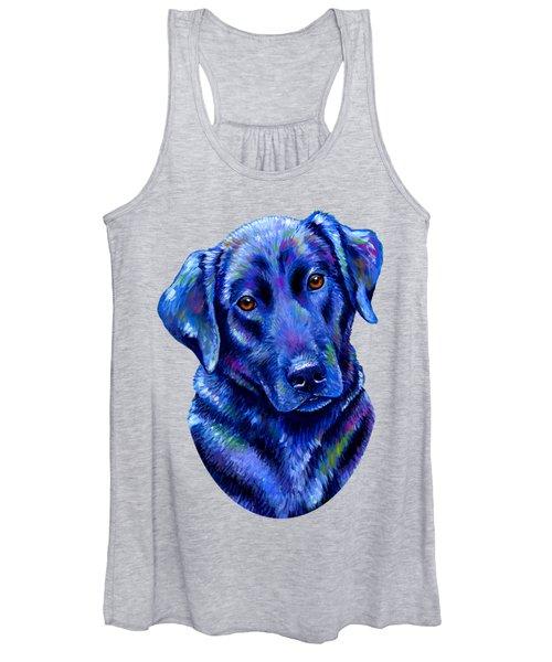 Colorful Black Labrador Retriever Dog Women's Tank Top