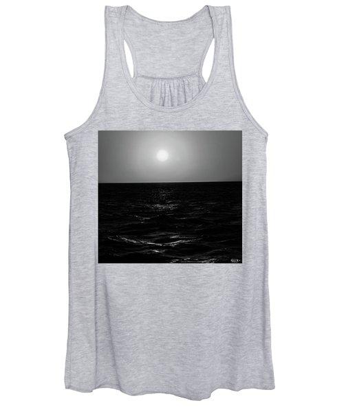 Aruba Sunset In Black And White Women's Tank Top