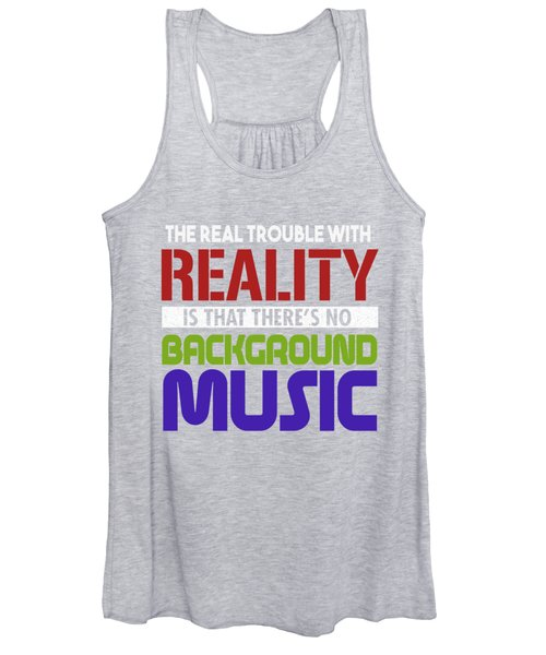Background Music Women's Tank Top