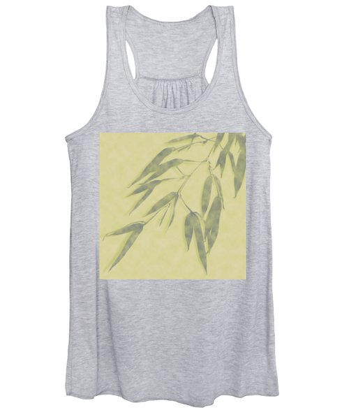 Bamboo Leaves 0580b Women's Tank Top
