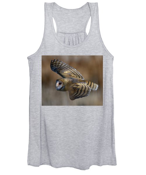 Barn Owl In Flight Women's Tank Top