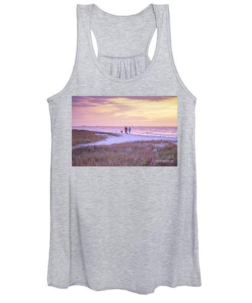 Sunrise Stroll On The Beach Women's Tank Top