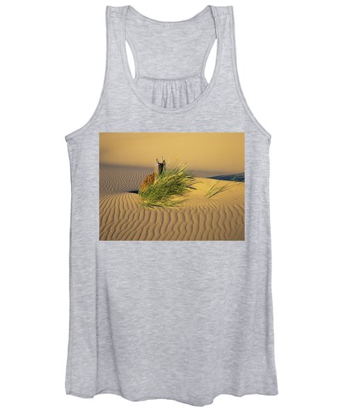Beachgrass And Ripples Women's Tank Top