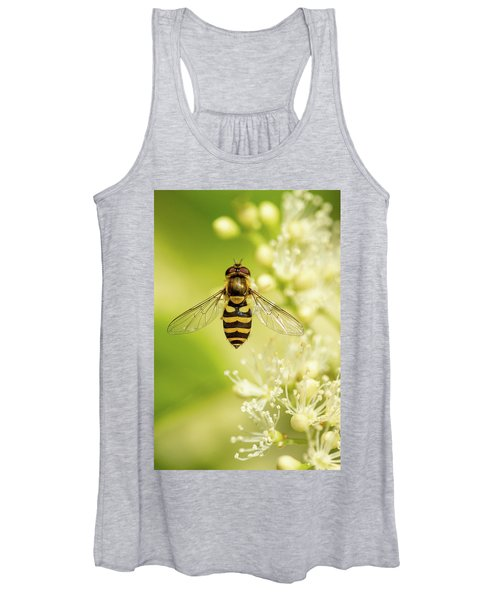 Women's Tank Top featuring the photograph Bee Up by Bob Cournoyer