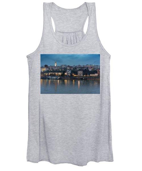 Belgrade Skyline And Sava River Women's Tank Top