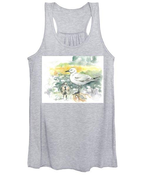 Black-billed Gull Family Women's Tank Top