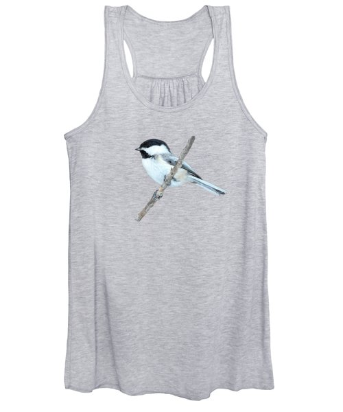 Black-capped Chickadee In Spring Women's Tank Top