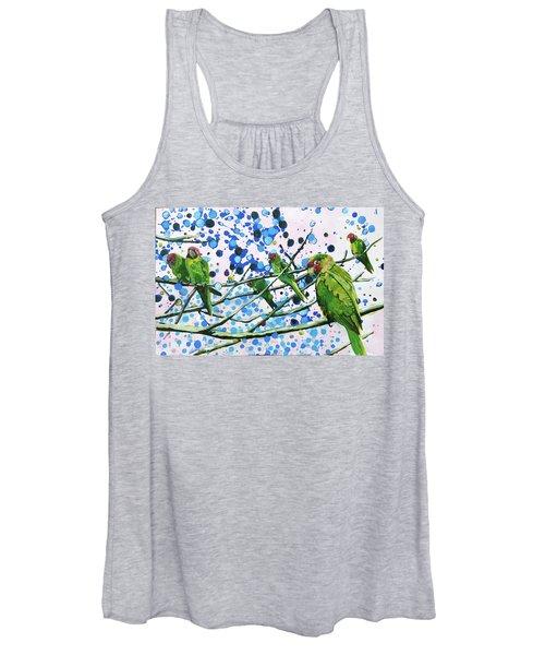 Blue Dot Parakeets Women's Tank Top
