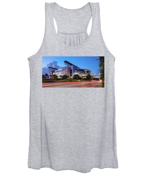 Blue Hour Photograph Of Nrg Stadium - Home Of The Houston Texans - Houston Texas Women's Tank Top