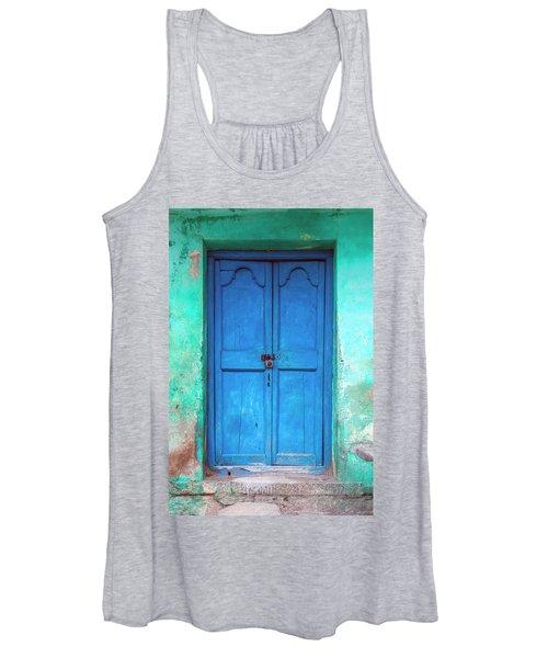 Blue Indian Door Women's Tank Top