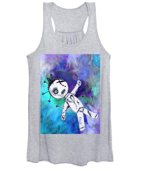 Blue Voodoo Doll Women's Tank Top