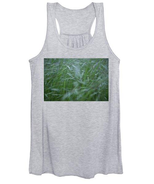 Blurry Wheat Women's Tank Top