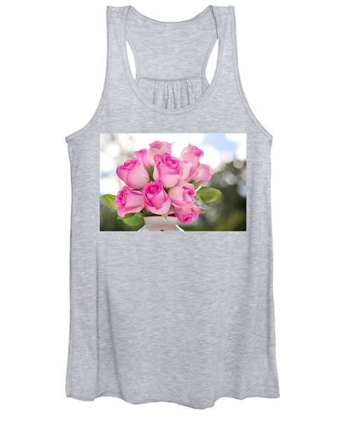 Bouquet Of Pink Roses Women's Tank Top