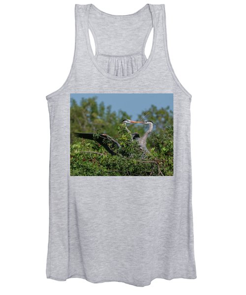 Breeding Herons Women's Tank Top