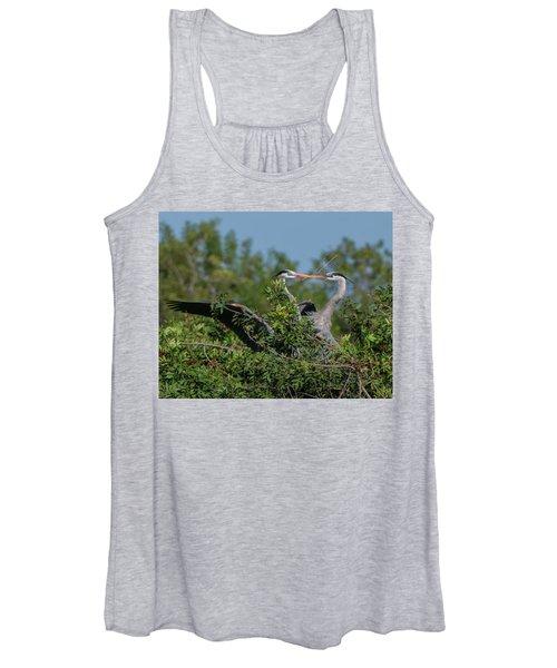 Breeding Herons Women's Tank Top