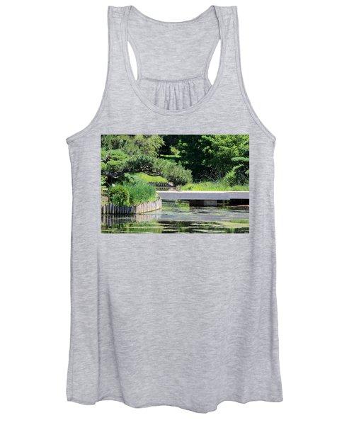 Bridge Over Pond In Japanese Garden Women's Tank Top