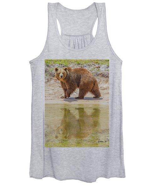 Brown Bear Reflection Women's Tank Top