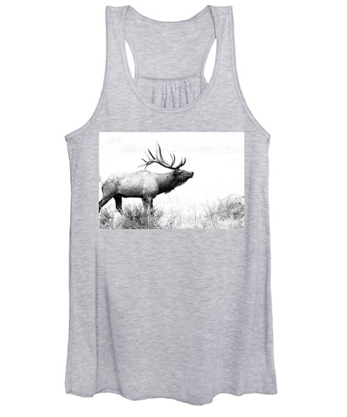 Bull Elk In Rut Women's Tank Top